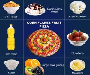 Corn Flakes Fruit Pizza