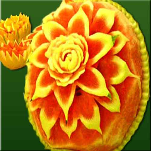 Fruits vegetable carving pictures decorative simple