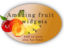 Amazing fruit widgets