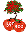 An apple tree can produce 400 apples a year